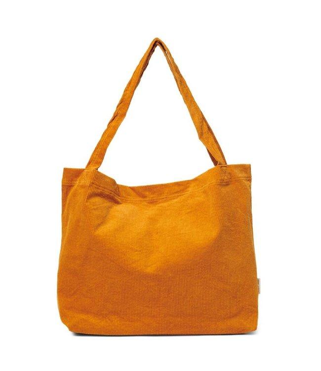 Orange rib mom-bag