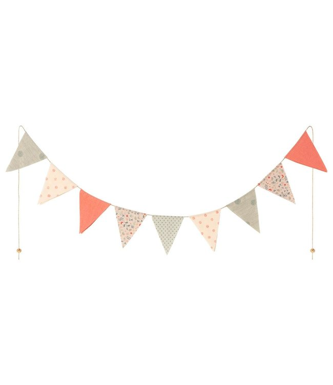 Maileg Garland, 9 flags - multi color