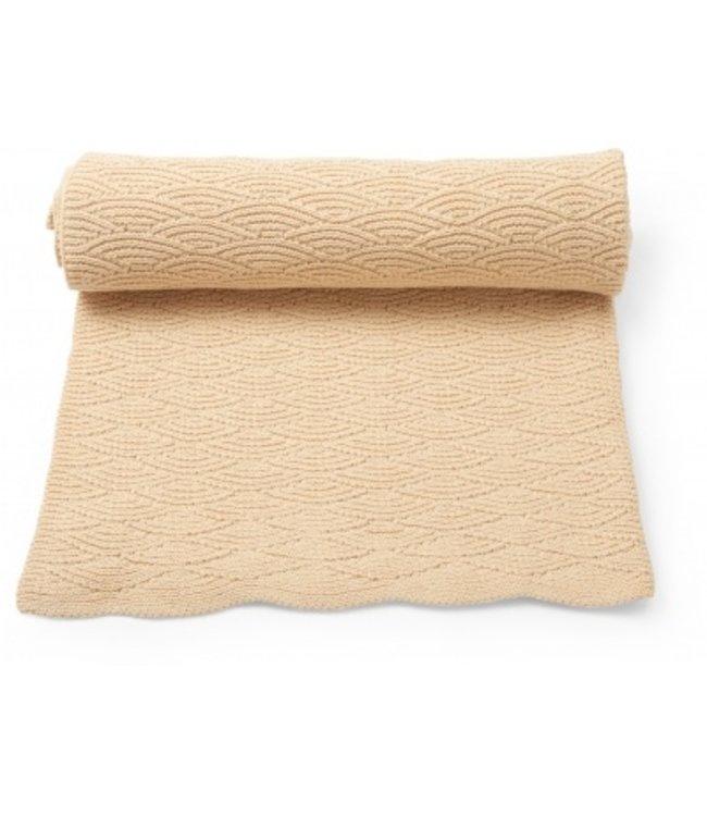 Pointelle cotton blanket - moonlight