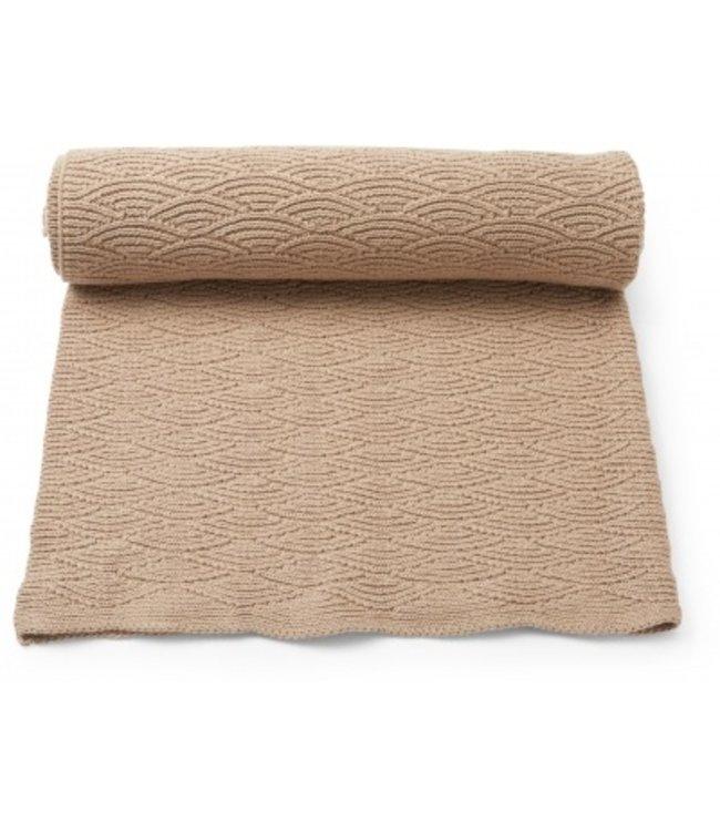 Pointelle cotton blanket - brush