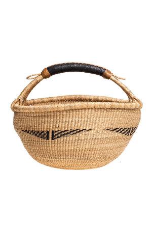 Bolga basket with leather handle #8