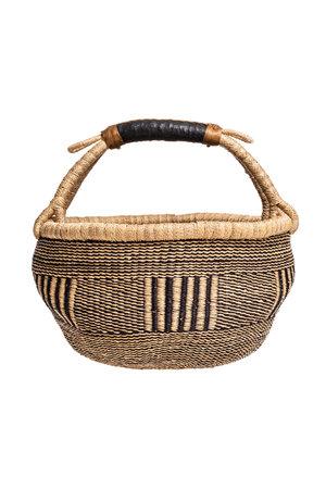Bolga basket with leather handle #10