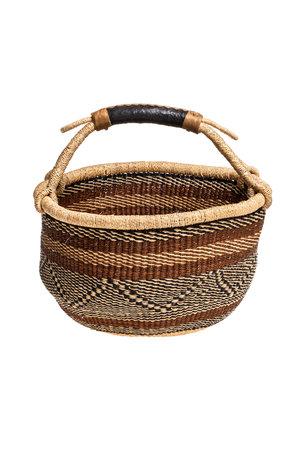 Bolga basket with leather handle #11