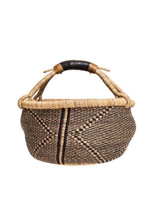 Bolga basket with leather handle #12