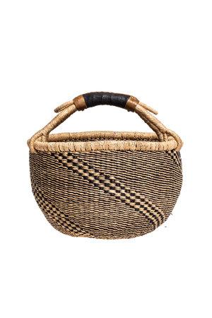 Bolga basket with leather handle #14