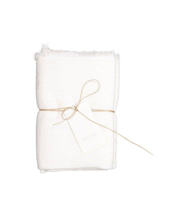 Cotton swaddle blanket - ivory shell