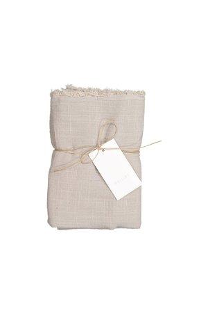 Mallino Cotton swaddle blanket - stone sand