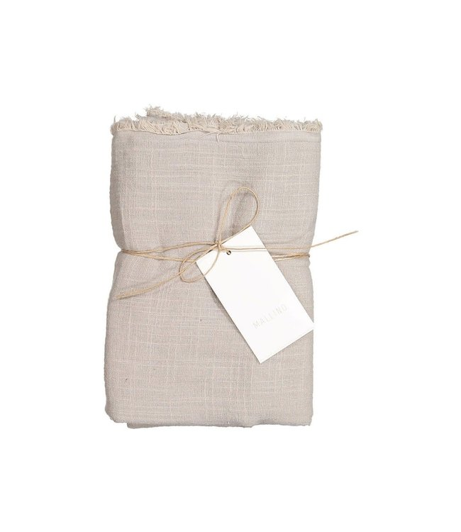 Cotton swaddle blanket - stone sand