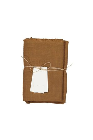 Mallino Cotton swaddle blanket - sunset rust
