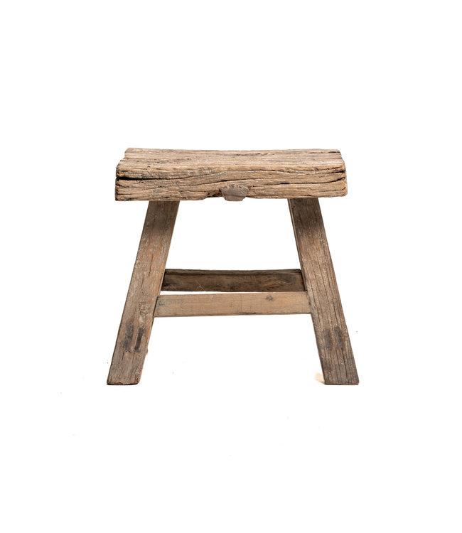Old stool weathered elm wood #42
