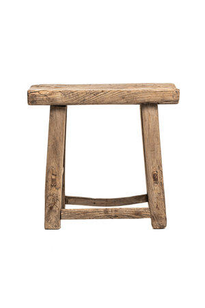 Old stool weathered elm wood #37