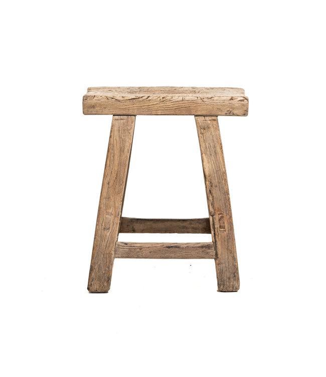 Old stool weathered elm wood #38
