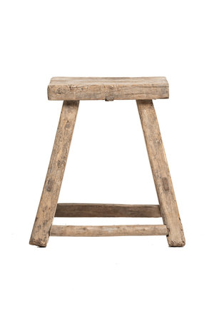 Old stool weathered elm wood #41