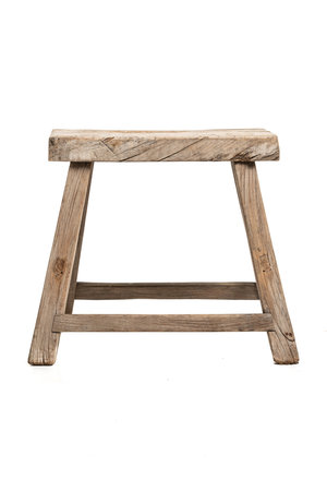 Old stool weathered elm wood #40