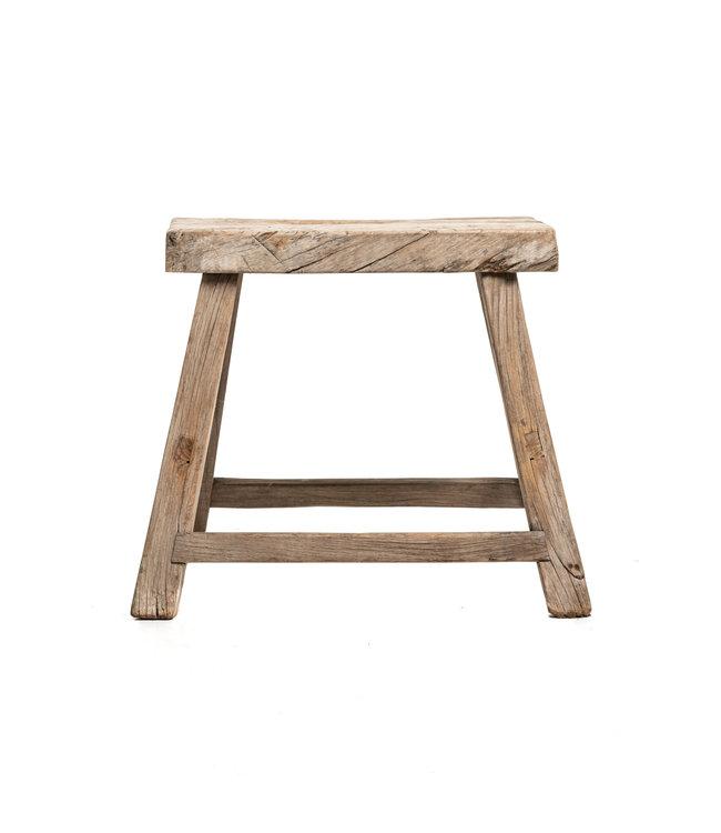Old stool weathered elm wood #40