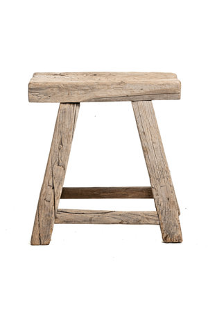 Old stool weathered elm wood #33