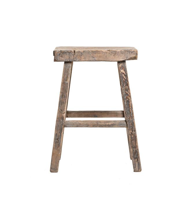 Old stool weathered elm wood #31