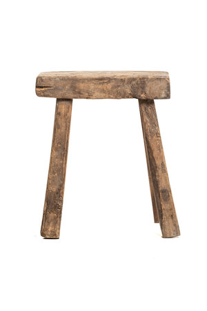 Old stool weathered elm wood #30