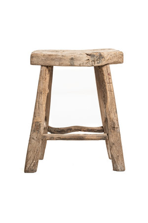 Old stool weathered elm #28
