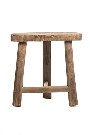 Old stool half moon, elm wood #2