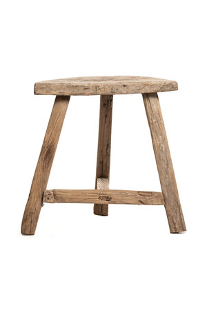 Old stool half moon, elm wood #3