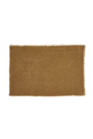 Libeco Pacific place mat - curry