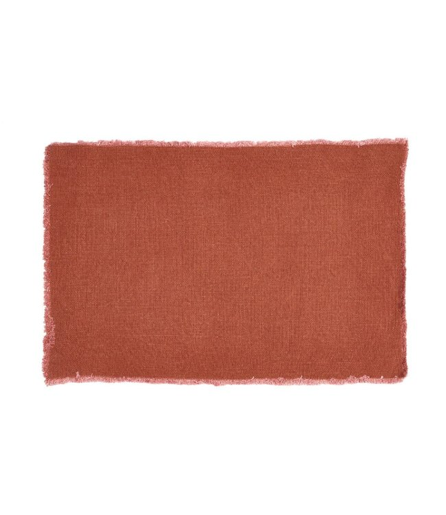 Libeco Pacific placemat - paprika