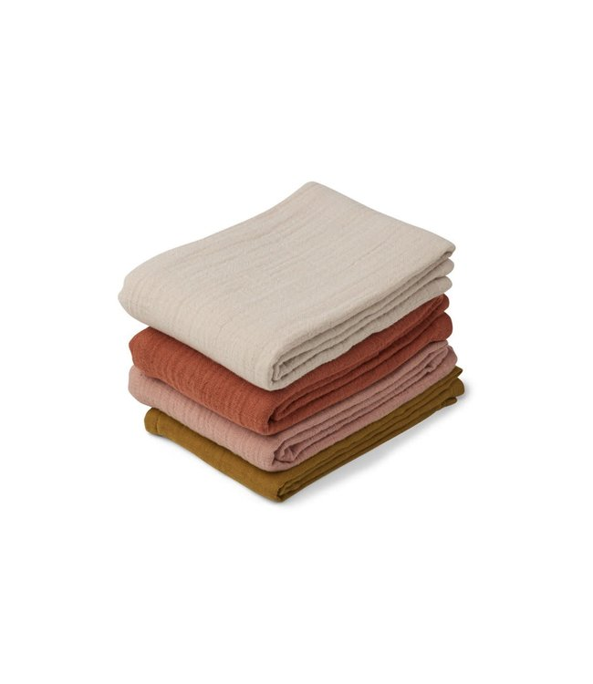 Liewood Leon muslin cloth 4 pack - rose multi mix