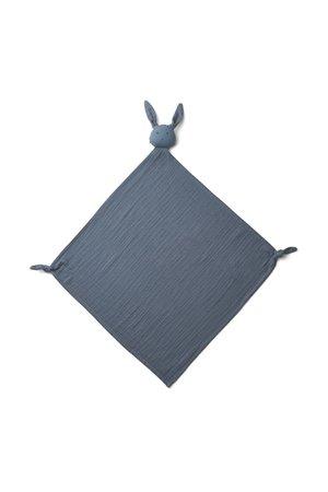 Liewood Robbie multi muslin doek - rabbit blue wave