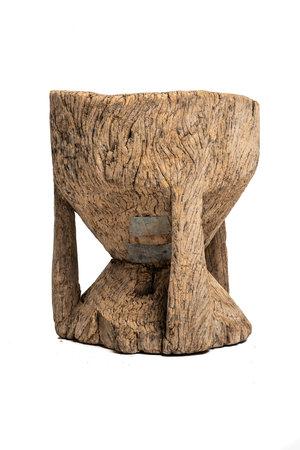 Old wooden mortar Peul #1