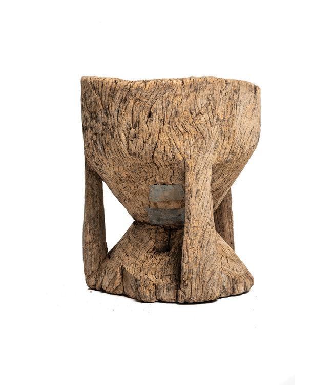 Oude houten vijzel Peul #1