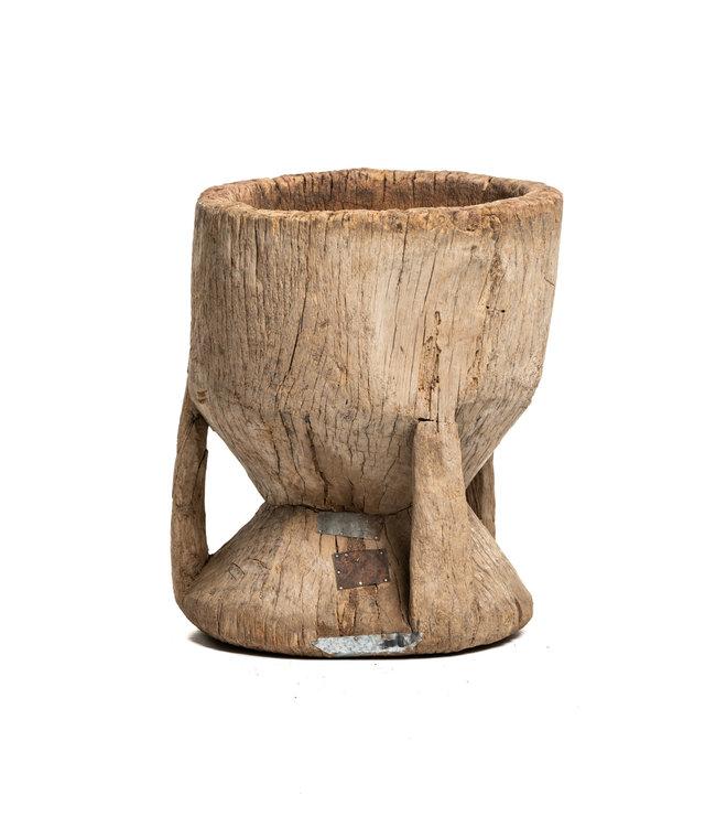 Old wooden mortar Peul #3