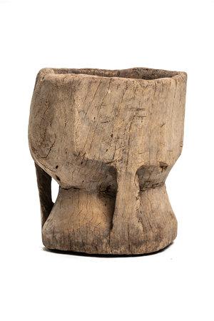 Old wooden mortar Peul #5