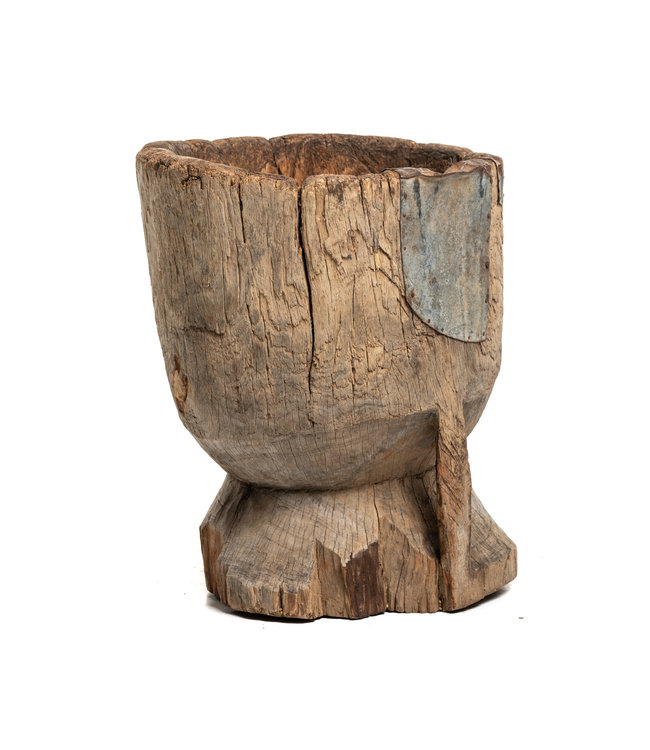 Old wooden mortar Peul #7
