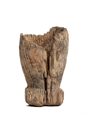 Old wooden mortar Mossi #10