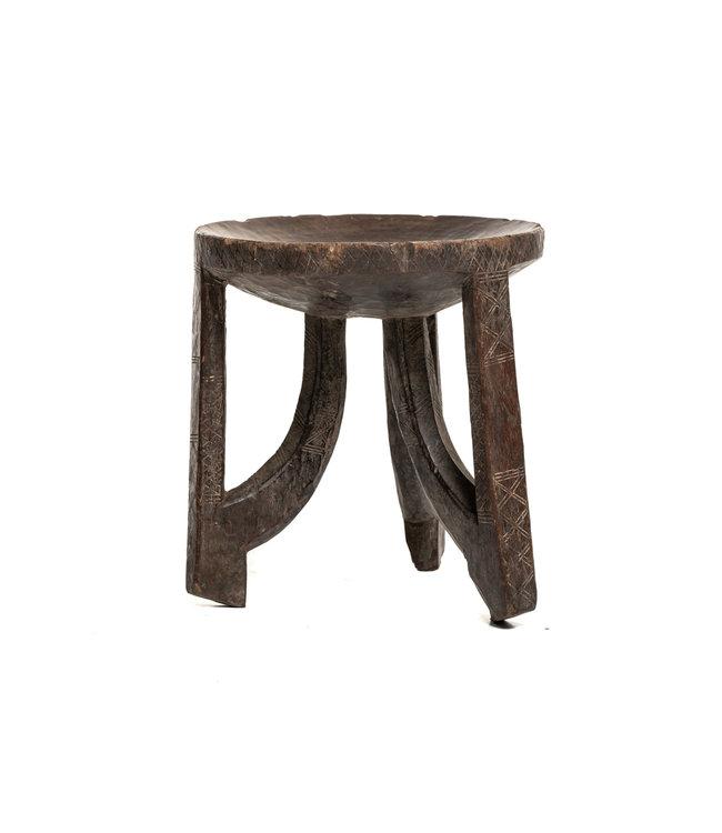 Old round stool Oromo #9