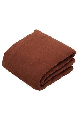 garbo&friends Cinnamon gewatteerde muslin deken