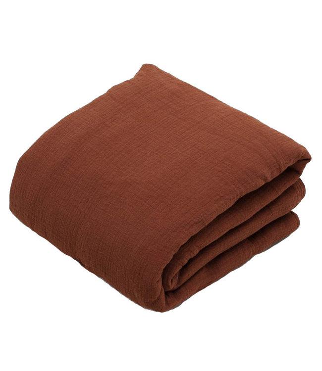 Cinnamon filled muslin blanket