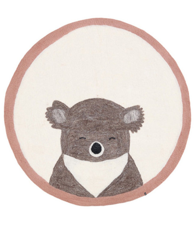 Muskhane Pasu felt rug koala - rose quartz
