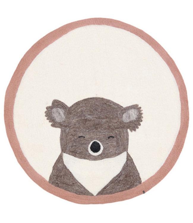 Muskhane Pasu vilten tapijt koala - rose quartz