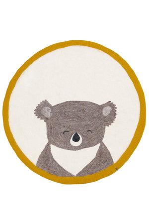 Muskhane Pasu felt rug koala - pollen