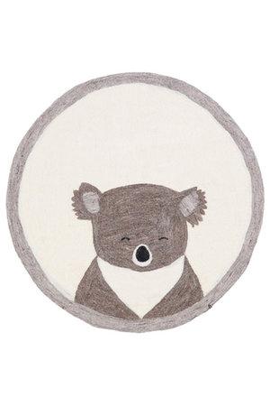 Pasu felt rug koala - pierre clair