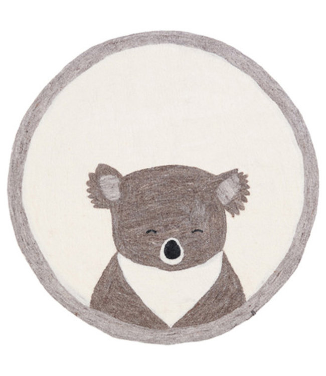 Muskhane Pasu felt rug koala - pierre clair
