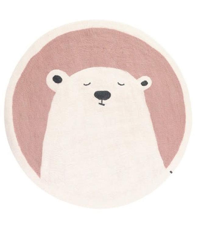 Pasu vilten tapijt ijsbeer - rose quartz