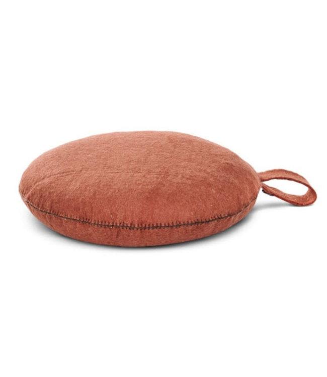Nomade felt seat cushion -  corail