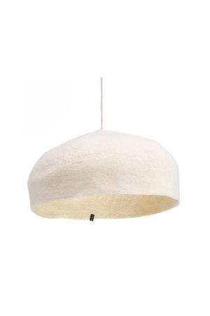 Round felt hanging lamp - natural