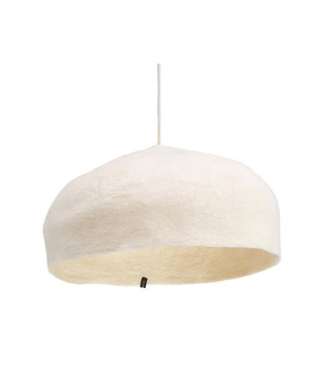 Round felt hanging lamp - natural