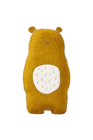 Muskhane Pasu felt cushion grizzly - pollen