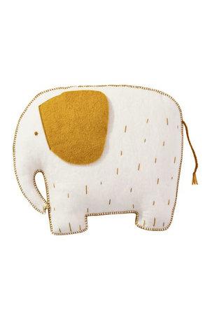 Muskhane Pasu felt cushion elephant - natural
