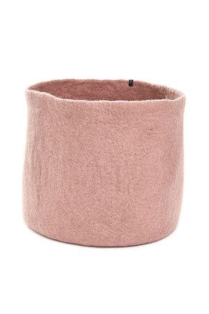 Felt basket unie  - rose quartz